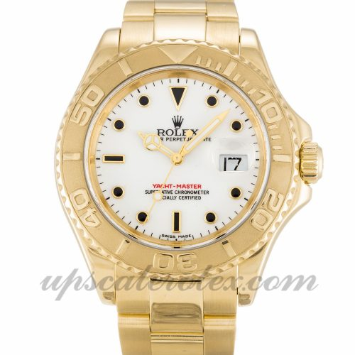 Mens Rolex Yacht-Master 16628 40 MM Case Automatic Movement White Dial