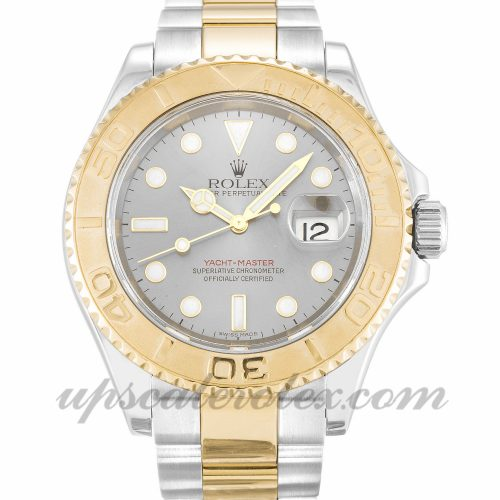 Mens Rolex Yacht-Master 16623 40 MM Case Automatic Movement Silver Dial