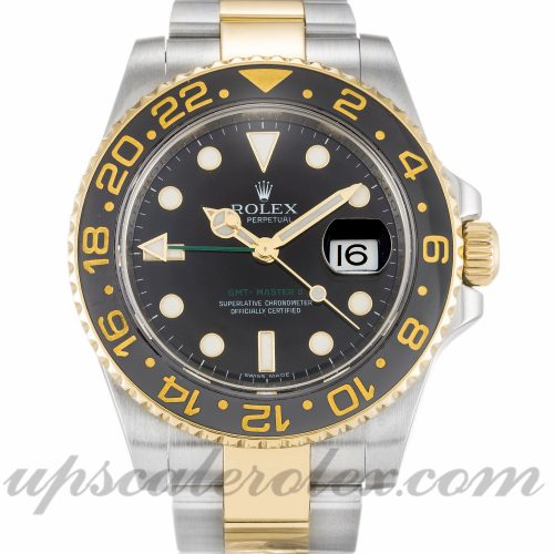 Mens Rolex GMT Master II 116713 LN 40 MM Case Automatic Movement Black Dial