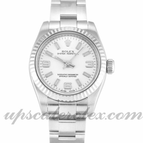 Ladies Rolex Lady Oyster Perpetual 176234 26 MM Case Automatic Movement White Quarter Dial