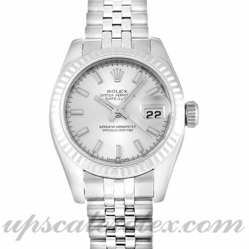Ladies Rolex Datejust Lady 179174 26 MM Case Automatic Movement Silver Dial