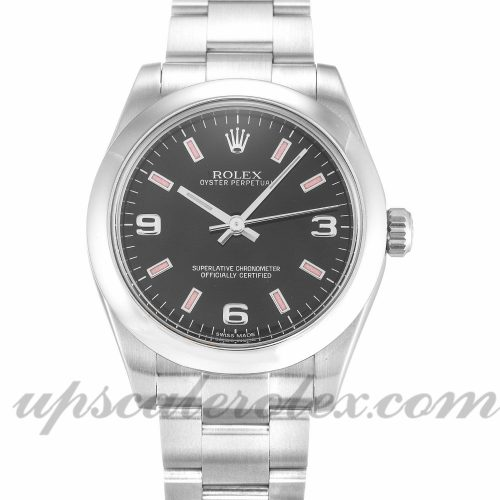 Ladies Rolex Lady Oyster Perpetual 177200 31 MM Case Automatic Movement Black Quarter Dial