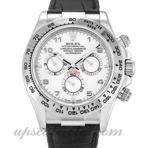Mens Rolex Daytona 116519 40 MM Case Automatic Movement White Dial
