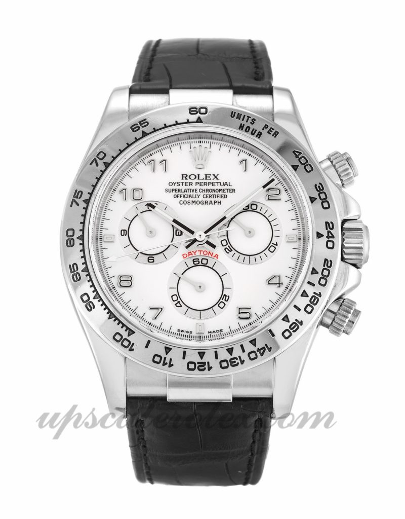 Mens Rolex Daytona 116519 40 MM Case Automatic Movement White Dial