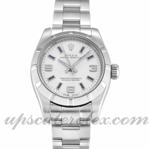 Ladies Rolex Lady Oyster Perpetual 176210 26 MM Case Automatic Movement Silver Quarter Dial