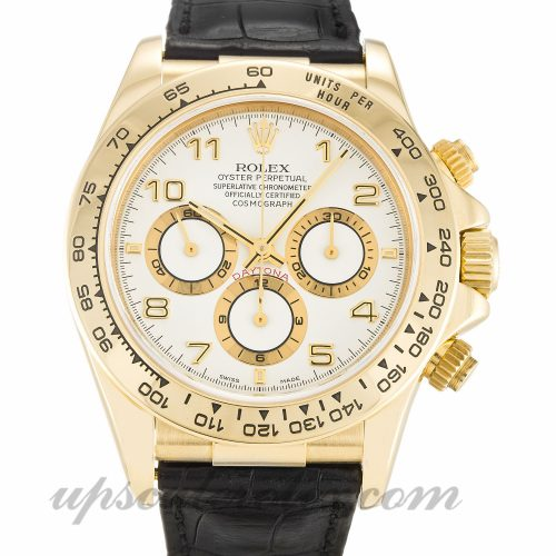 Mens Rolex Daytona 16518 40 MM Case Automatic Movement White Dial