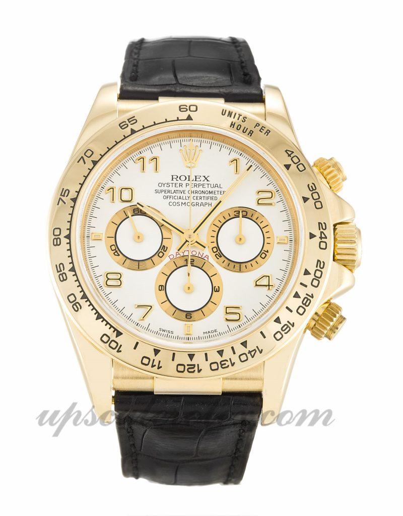 Mens Rolex Daytona 16518 40 MM Case Automatic Movement White Dial