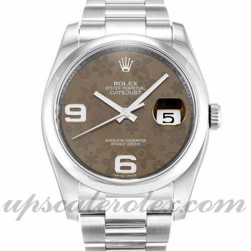 Unisex Rolex Datejust 116200 36 MM Case Automatic Movement Floral Dial