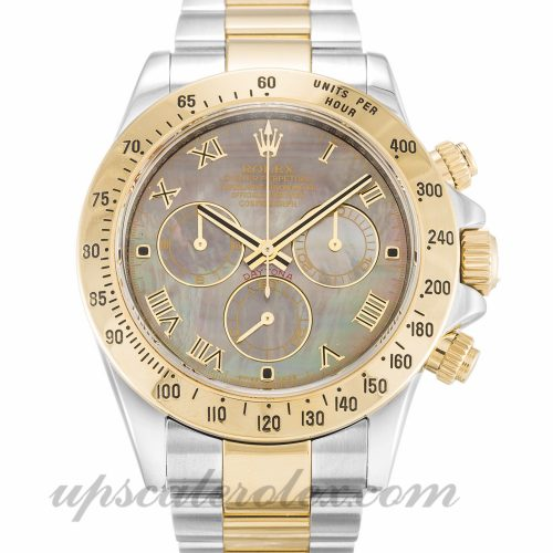 Mens Rolex Daytona 116523 40 MM Case Automatic Movement Mother of Pearl - Black Dial