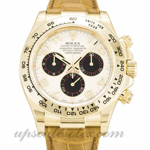 Mens Rolex Daytona 116518 40 MM Case Automatic Movement White Dial