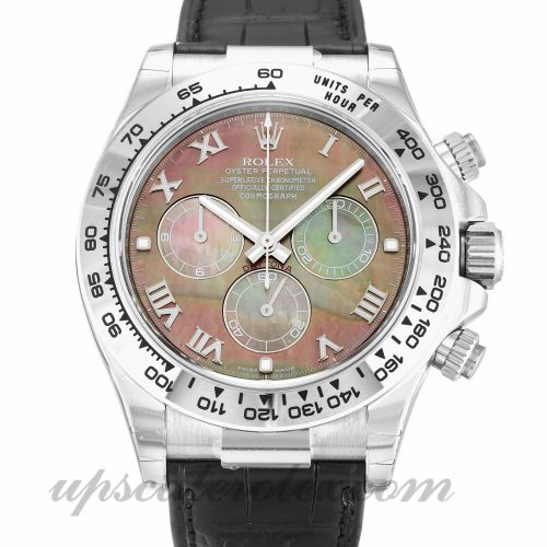 Mens Rolex Daytona 116519 40 MM Case Automatic Movement Mother of Pearl - Black Dial