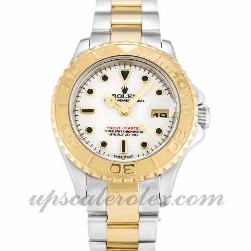 Ladies Rolex Yacht-Master 169623 29 MM Case Automatic Movement White Dial
