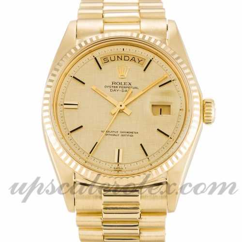 Mens Rolex Day-Date 1803 36 MM Case Automatic Movement Champagne Dial