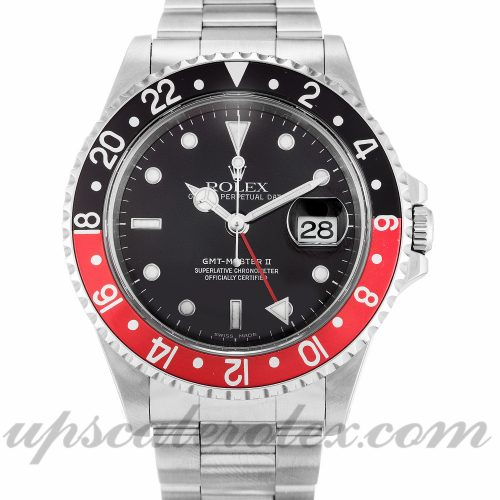 Mens Rolex GMT Master II 16710 40 MM Case Automatic Movement Black Dial