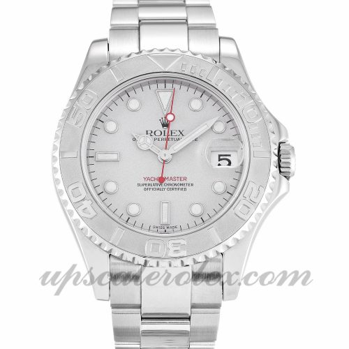 Unisex Rolex Yacht-Master 168622 35 MM Case Automatic Movement Platinum Dial