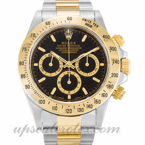 Mens Rolex Daytona 16523 40 MM Case Automatic Movement Black Dial