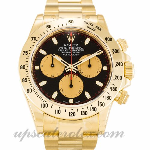 Mens Rolex Daytona 116528 40 MM Case Automatic Movement Black Dial