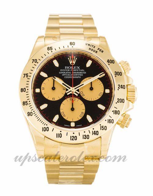 Mens Rolex Daytona 116528 40 MM Case Automatic Movement Black Dial