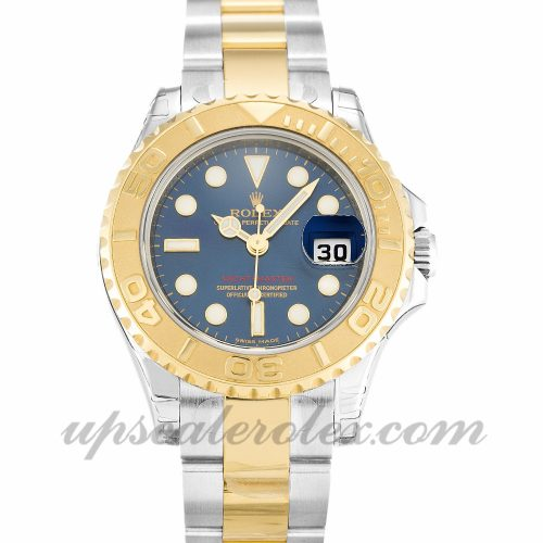 Ladies Rolex Yacht-Master 169623 29 MM Case Automatic Movement Blue Dial