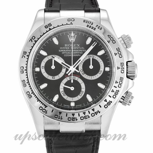 Mens Rolex Daytona 116519 39 MM Case Automatic Movement Black Dial