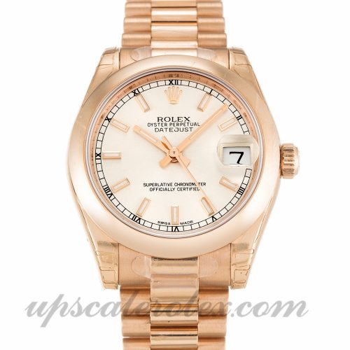 Ladies Rolex Datejust Lady 178245F 31 MM Case Automatic Movement Silver Dial