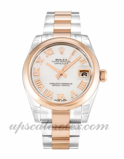 Unisex Rolex Mid-Size Datejust 178241 31 MM Case Automatic Movement Mother of Pearl - White Dial