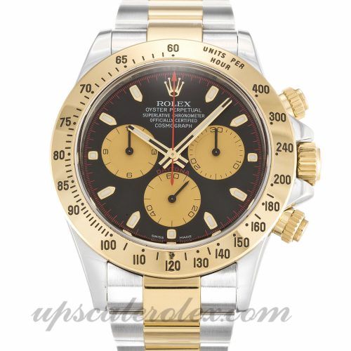 Mens Rolex Daytona 116523 40 MM Case Automatic Movement Black Dial