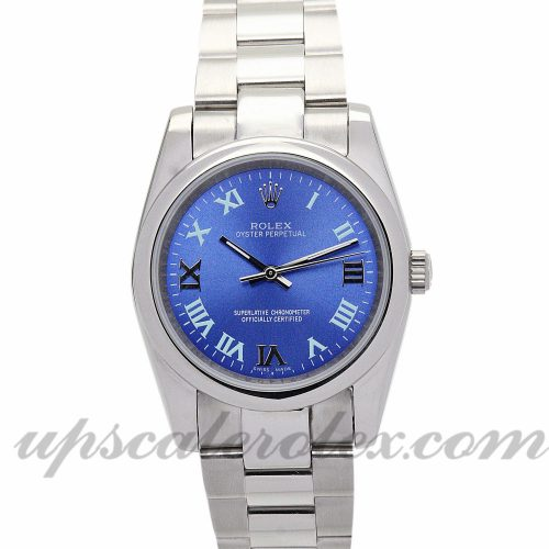 Ladies Rolex Lady Oyster Perpetual 177200 26 MM Case Automatic Movement Blue Dial
