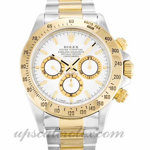 Mens Rolex Daytona 16523 38 MM Case Automatic Movement White Dial