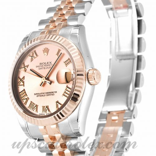 Unisex Rolex Mid-Size Datejust 178271 31 MM Case Automatic Movement Pink Dial