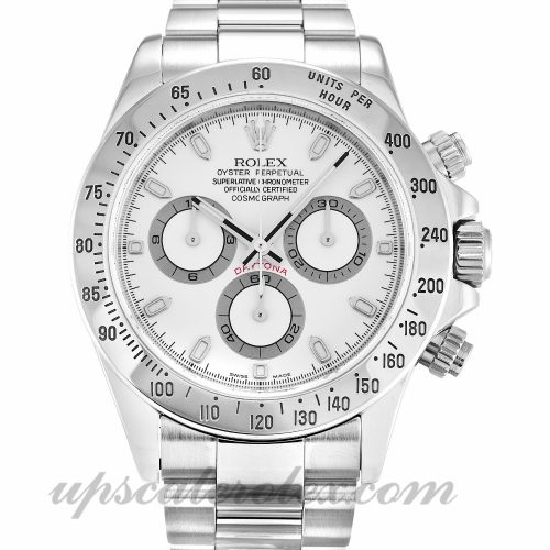 Mens Rolex Daytona 116520 40 MM Case Automatic Movement White Dial