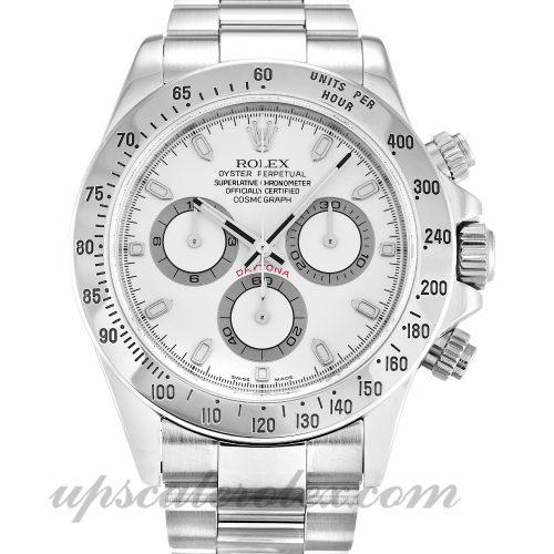 Mens Rolex Daytona 116520 40 MM Case Automatic Movement White Dial