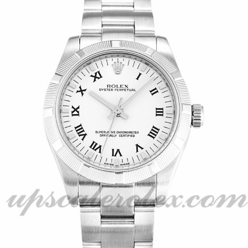 Ladies Rolex Lady Oyster Perpetual 177210 31 MM Case Automatic Movement White Dial