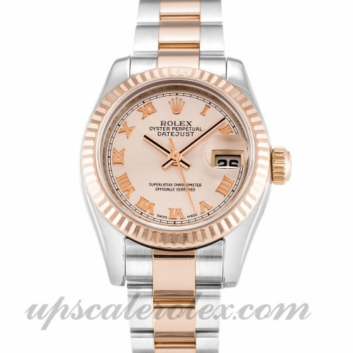 Ladies Rolex Datejust Lady 179171 26 MM Case Automatic Movement Rose Dial