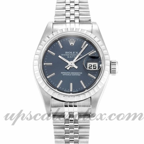 Ladies Rolex Lady Oyster Perpetual 79240 25 MM Case Automatic Movement Blue Dial