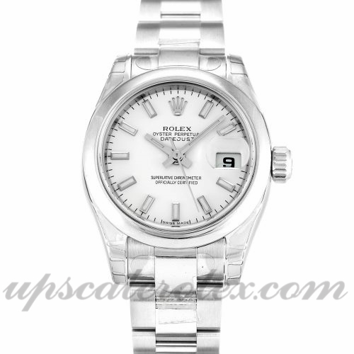 Ladies Rolex Datejust Lady 179160 26 MM Case Automatic Movement White Dial