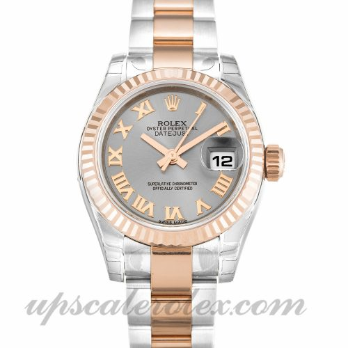 Ladies Rolex Datejust Lady 179171 26 MM Case Automatic Movement Rhodium Dial