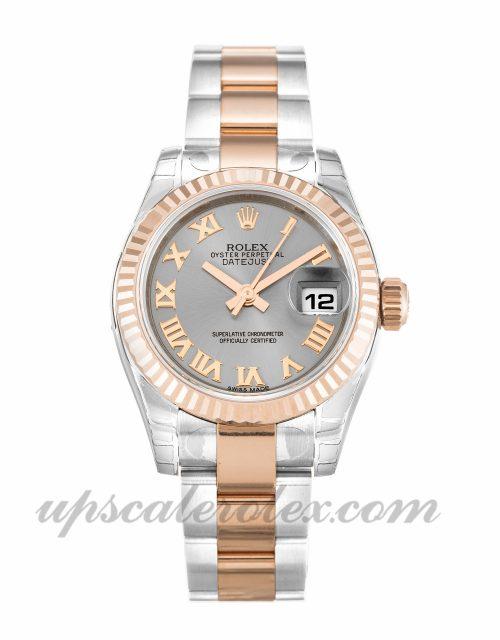 Ladies Rolex Datejust Lady 179171 26 MM Case Automatic Movement Rhodium Dial