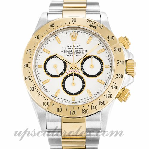 Mens Rolex Daytona 16523 40 MM Case Automatic Movement White Dial