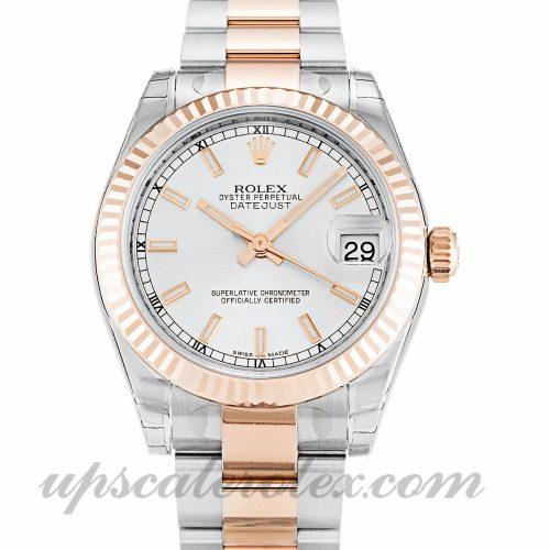 Unisex Rolex Mid-Size Datejust 178271 31 MM Case Automatic Movement Silver Dial