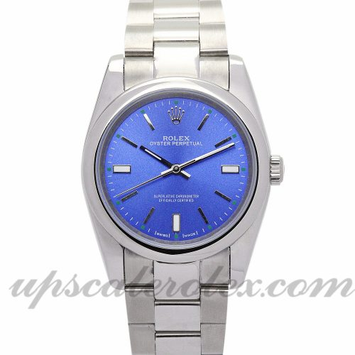 Ladies Rolex Lady Oyster Perpetual 177200 31 MM Case Automatic Movement Blue Dial