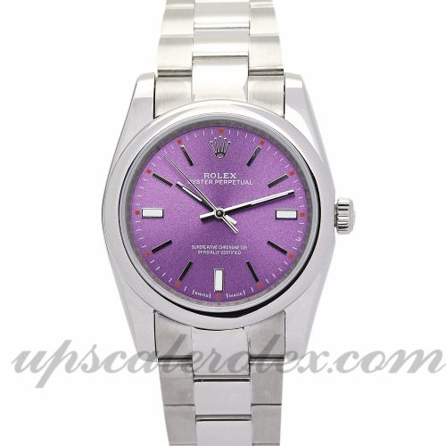 Ladies Rolex Lady Oyster Perpetual 177200 26 MM Case Automatic Movement Purple Dial