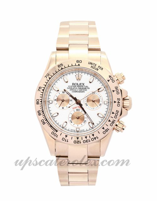 Mens Rolex Daytona 116505 40 MM Case Automatic Movement Ivory Dial
