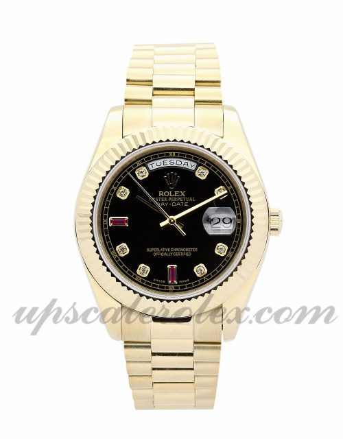 Mens Rolex Day-Date 118238 36 MM Case Automatic Movement Black dial and Champagne Diamond Dial