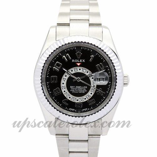 Mens Rolex Sky-Dweller 326938 42 MM Case Automatic Movement Black Dial