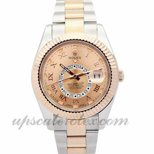 Mens Rolex Sky-Dweller 326938 42 MM Case Automatic Movement Champagne Dial