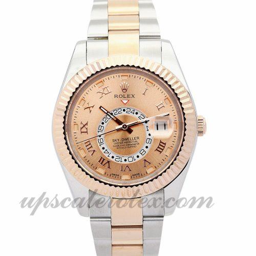 Mens Rolex Sky-Dweller 326938 42 MM Case Automatic Movement Champagne Dial