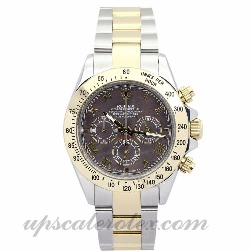 Mens Rolex Daytona 116523 40 MM Case Automatic Movement Dark brown Dial
