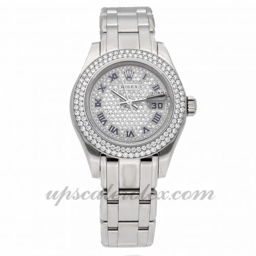 Ladies Rolex Datejust Pearlmaster 80339 29mm Case Mechanical (Automatic) Movement Diamond Dial