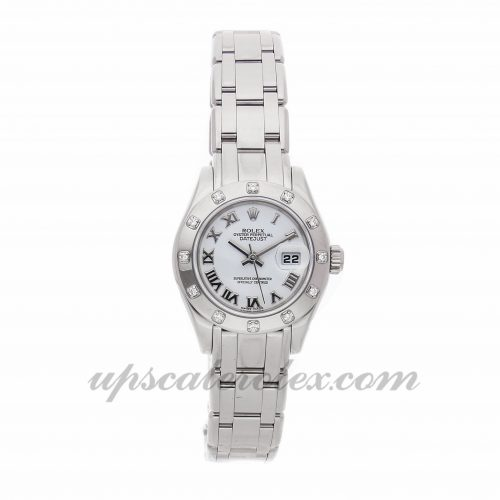 Ladies Rolex Pearlmaster Datejust Masterpiece 80319 29mm Case Mechanical (Automatic) Movement White Dial